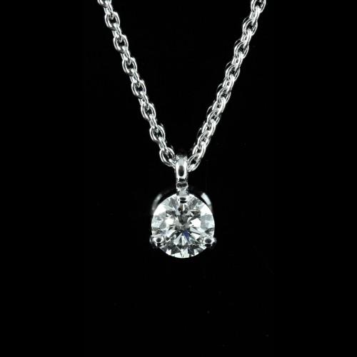 Pendentif solitaire diamant