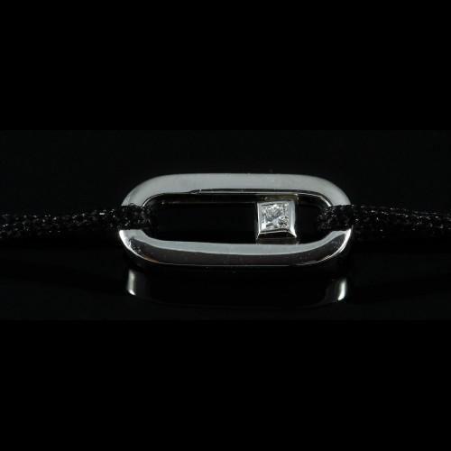 Bracelet lien or blanc...