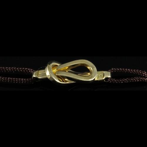 Bracelet lien noeud plat
