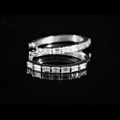 Paire de créoles diamants