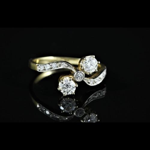 """Bague """"Vous et Moi"""" diamants"""
