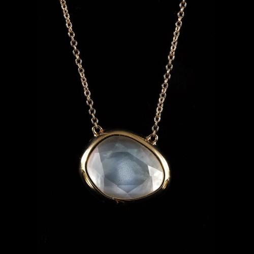 Collier pendentif quartz fumé