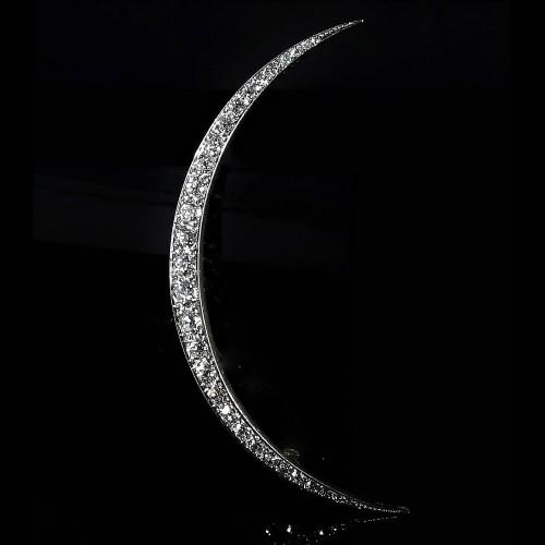 Broche croissant de lune