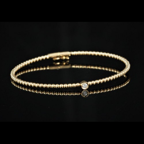 Bracelet or rose diamant