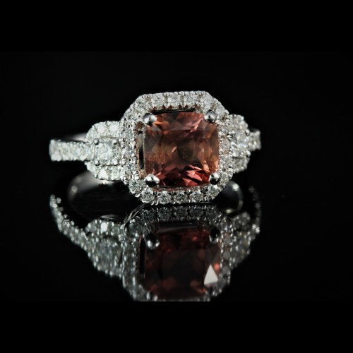 Bague Tourmaline diamants